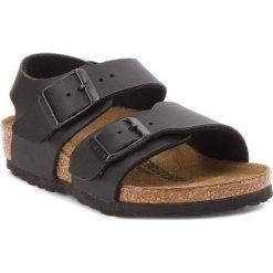 Sandały BIRKENSTOCK - New York Kids Bs 1005885 Black. Czarne sandały chłopięce Birkenstock, ze skóry ekologicznej. Za 199,00 zł.
