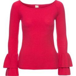 Sweter bonprix czerwony. Czerwone swetry klasyczne damskie bonprix, z dzianiny. Za 79,99 zł.