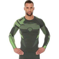 Bluzy męskie: Brubeck Bluza męska Dry z długim rękawem zielona r. M (LS13080)