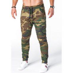 SPODNIE MĘSKIE JOGGERY P709 - ZIELONE/MORO. Zielone joggery męskie Ombre Clothing, moro. Za 79,00 zł.