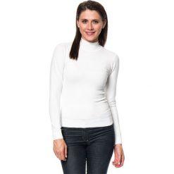 Golfy damskie: Sweter w kolorze kremowym