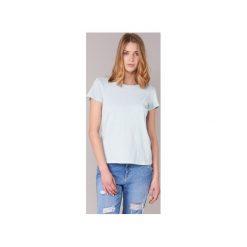 T-shirty z krótkim rękawem Marc O'Polo  TEDESSO. Szare t-shirty damskie marki U.S. Polo, l, z aplikacjami, z dzianiny, z okrągłym kołnierzem. Za 159,20 zł.