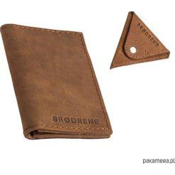 Portfele męskie: Zestaw bilonówka + portfel jasno brązowy SW03