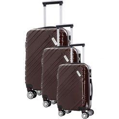 Walizki: Zestaw walizek w kolorze brązowym – 3 szt.
