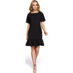 Sukienki: Sukienka z falbaną – czarna