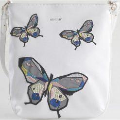 Monnari - Torebka. Szare torebki klasyczne damskie Monnari, z haftami, z materiału, średnie, z haftem. W wyprzedaży za 99,90 zł.