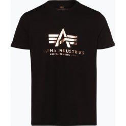 Alpha Industries - T-shirt męski, czarny. Czarne t-shirty męskie z nadrukiem Alpha Industries, m. Za 89,95 zł.