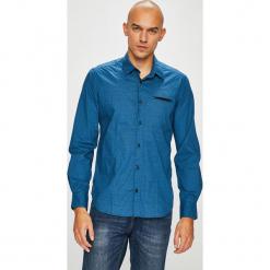S. Oliver - Koszula. Niebieskie koszule męskie na spinki S.Oliver, l, z bawełny, z klasycznym kołnierzykiem, z długim rękawem. Za 159,90 zł.