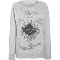 Bluzy rozpinane damskie: Harry Potter Marauder's Map Bluza damska odcienie jasnoszarego