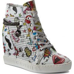 Sneakersy CARINII - B3968 J97-000-000-B88. Białe sneakersy damskie Carinii, z materiału. W wyprzedaży za 269,00 zł.