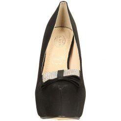 CZÓŁENKA CASU 3363-1. Czarne buty ślubne damskie Casu, na koturnie. Za 69,99 zł.