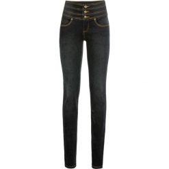 Dżinsy SHAPE bonprix czarny. Czarne jeansy damskie bonprix, z podwyższonym stanem. Za 99,99 zł.
