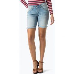 Pepe Jeans - Damskie krótkie spodenki jeansowe – Poppy, niebieski. Niebieskie szorty jeansowe damskie marki Pepe Jeans. Za 199,95 zł.