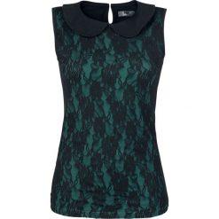 Topy damskie: Black Premium by EMP Floral Lace Top Top damski czarny