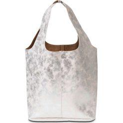 Shopper bag damskie: Torba shopper bonprix beżowy metaliczny