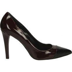 Czółenka - 701 BORD-NERO. Czarne buty ślubne damskie Venezia, ze skóry. Za 149,00 zł.