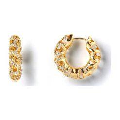 Kolczyki damskie: Unikalne Złote Kolczyki – złoto żółte 750, Brylant 0,35ct