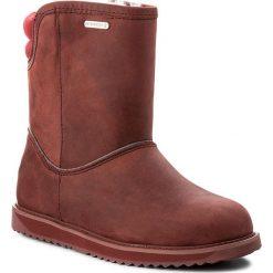 Buty EMU AUSTRALIA - Judbury W11550 Burnt Red. Czerwone buty zimowe damskie EMU Australia, z materiału. W wyprzedaży za 479,00 zł.