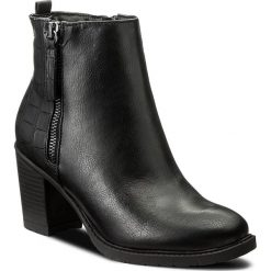 Botki JENNY FAIRY - LS4255-01 Czarny. Czarne buty zimowe damskie Jenny Fairy, z materiału, na obcasie. Za 119,99 zł.