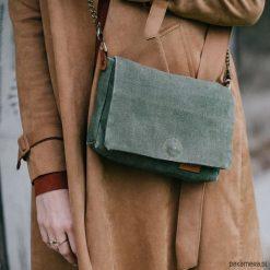 Mała torebka z worka wojskowego. Brązowe torebki worki Pakamera, małe. Za 129,00 zł.