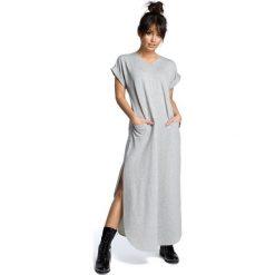 Sukienki: Sukienka maksi z rozcięciami po bokach – szara