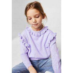 Mango Kids - Sweter dziecięcy Helen2 110-164 cm. Szare swetry dziewczęce Mango Kids, z bawełny, z okrągłym kołnierzem. W wyprzedaży za 39,90 zł.