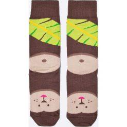 Nanushki - Skarpetki Monkey. Brązowe skarpetki damskie marki Nanushki, z bawełny. W wyprzedaży za 19,90 zł.