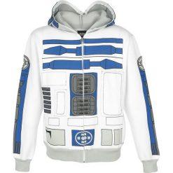 Star Wars R2-D2 Bluza z kapturem rozpinana biały/jasnoszary. Białe bluzy męskie rozpinane Star Wars, l, z aplikacjami, prążkowane, z kapturem. Za 121,90 zł.