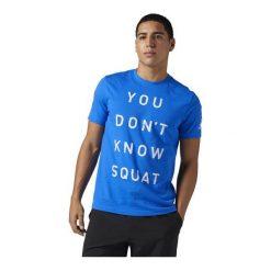 Reebok Koszulka męska Dont Know Squat niebieska r. XL (BQ8301). Niebieskie t-shirty męskie Reebok, m. Za 99,90 zł.