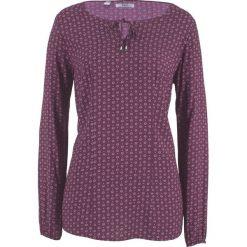 Bluzka z długim rękawem bonprix czarny bez - biały. Fioletowe bluzki longsleeves marki bonprix. Za 59,99 zł.