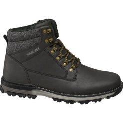 Kozaki męskie Highland Creek czarne. Czarne buty zimowe męskie Highland Creek, z materiału, na sznurówki. Za 159,90 zł.