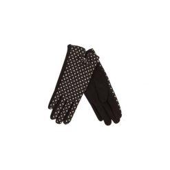 Rękawiczki damskie zimowe we wzory, Z KOKARDKĄ. Czarne rękawiczki damskie TXM, na zimę. Za 16,99 zł.