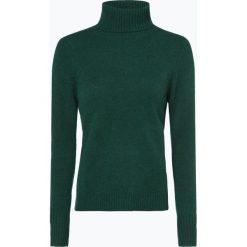 Franco Callegari - Damski sweter z wełny merino, zielony. Zielone golfy damskie marki Franco Callegari, z napisami. Za 229,95 zł.