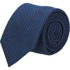 Krawat cotton granatowy classic 203. Niebieskie krawaty męskie Recman, z bawełny, eleganckie. Za 59,00 zł.