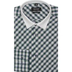 Koszula barnet 1756 długi rękaw slim fit zielony. Zielone koszule męskie jeansowe marki Recman, na wiosnę, m, z klasycznym kołnierzykiem, z długim rękawem. Za 29,99 zł.
