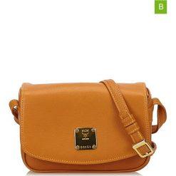 Torebki klasyczne damskie: Skórzana torebka w kolorze jasnobrązowym – 10 x 16 x 4 cm
