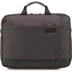 Torba w kolorze czarnoszarym - (S)39,5 x (W)30 x (G)6 cm. Czarne torby na laptopa marki Wittchen, w paski, z materiału. W wyprzedaży za 159,95 zł.