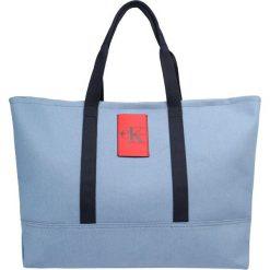 Calvin Klein Jeans CARRYALL TOTE Torba na zakupy blue. Niebieskie shopper bag damskie Calvin Klein Jeans, z jeansu. Za 549,00 zł.