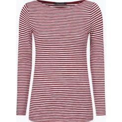 Marc O'Polo - Damska koszulka z długim rękawem, czerwony. Czerwone t-shirty damskie Marc O'Polo, l, w prążki, z bawełny, polo. Za 219,95 zł.