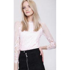 Bluzki asymetryczne: Różowa Bluzka Wainting Line