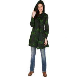 Bluzy rozpinane damskie: Bluza w kolorze zielono-czarnym