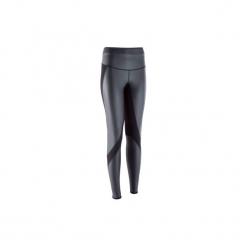 Legginsy fitness SWEAT + damskie. Szare legginsy sportowe damskie marki Fasardi, l, w kolorowe wzory. Za 99,99 zł.