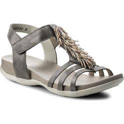 Rzymianki damskie: Sandały RIEKER - K2254-42 Grey Combination