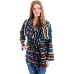Płaszcze damskie pastelowe: Płaszcz materiałowy - 114-6335A VER