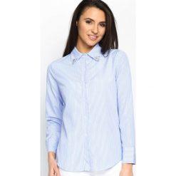 Niebieska Koszula Upright. Koszule w niebieskie paski Born2be, s. Za 54,99 zł.