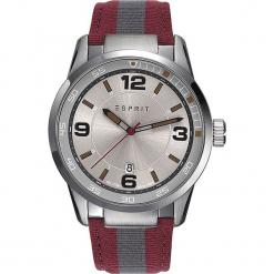 Zegarek kwarcowy w kolorze czerwono-szaro-srebrnym. Czerwone, analogowe zegarki męskie Esprit Watches, srebrne. W wyprzedaży za 250,95 zł.