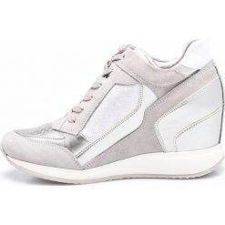Geox - Buty. Szare buty sportowe damskie marki Geox, z materiału. W wyprzedaży za 379,90 zł.