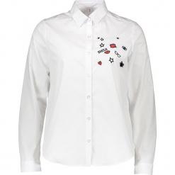 Bluzka - Comfort fit - w kolorze białym. Białe topy sportowe damskie Seidensticker, z aplikacjami, z bawełny. W wyprzedaży za 104,95 zł.