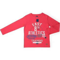 Koszulka w kolorze czerwonym. Czerwone t-shirty chłopięce z długim rękawem Street Monkey, z bawełny. W wyprzedaży za 42,95 zł.