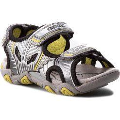 Sandały GEOX - J Sand. Strike B J7224B 0CE14 C0666 Szary/J. Zielony. Szare sandały męskie skórzane marki Geox. W wyprzedaży za 209,00 zł.